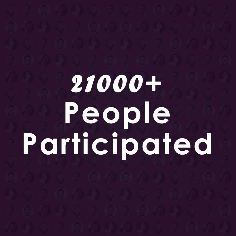 21000+ Peoples have Participated in our Campaign. Thanks for your Support